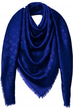 Палантин шелковый Louis Vuitton Monogram Shawl Blue