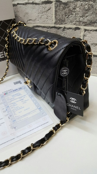 Сумка Chanel Chevron Classic Flap Bag